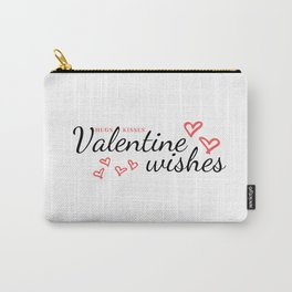 Hugs, Kisses and Valentine Wishes Carry-All Pouch