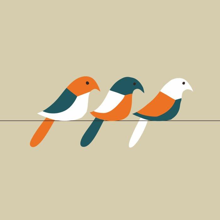 Birds on wire Comforters