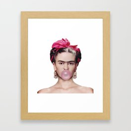 Frida con amigos Framed Art Print