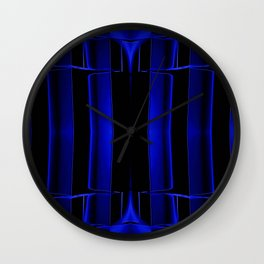 Playing in Blue Wall Clock