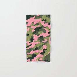 Green & Pink Camo Hand & Bath Towel