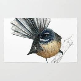 Mr Pīwakawaka, New Zealand native bird fantail Rug