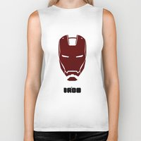 ironman Biker Tanks featuring IRONMAN by agustain
