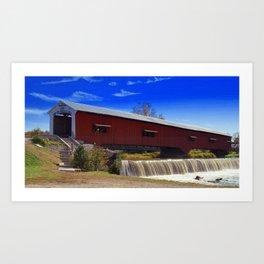 Bridgeton Bridge ~ Rockville, Indiana Art Print