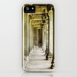 Angkor Wat Leading Lines II, Cambodia iPhone Case