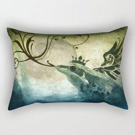 Frog Prince Midnight Fantasy Rectangular Pillow