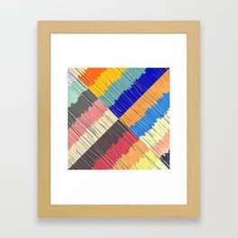 Cool Colors Collage Framed Art Print