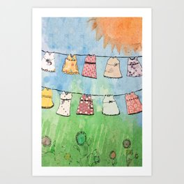 Dresses in the Sun Art Print