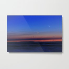 Cresent & Venus Setting Decor. Metal Print
