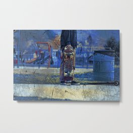 Waiting to Skate  -  Skateboarder Metal Print