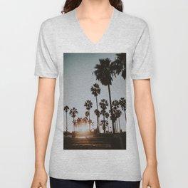 palm trees vi / venice beach, california Unisex V-Neck