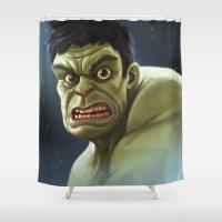 hulk Shower Curtains featuring Hulk by Jeff Delgado