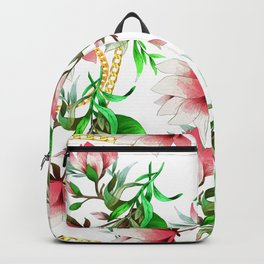 Floral Pattern with Chains Backpack