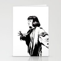 mia wallace Stationery Cards featuring Mia Wallace by El Kane
