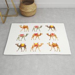 Cute watercolor camels Rug