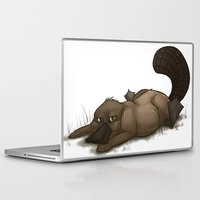 platypus Laptop & iPad Skins featuring Grumpy Platypus by The Art of Nicole