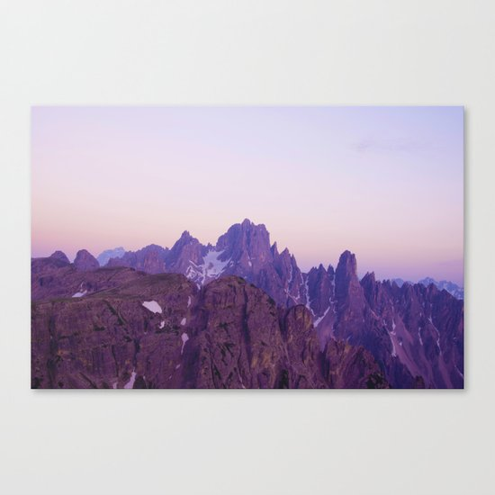 Mountains of Violet Canvas Print