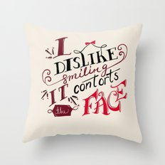 Lizzie Bennet Diaries-I Dislike Smiling Throw Pillow