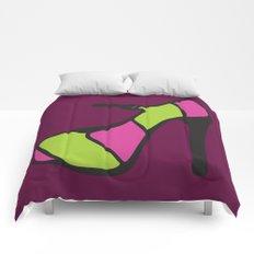 High Heel Parade - Pink & Green Comforters