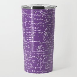 Physics Equations on Purple Travel Mug