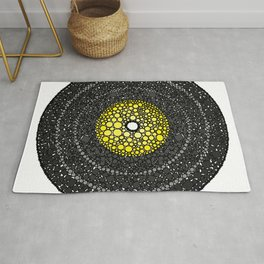 Put Your (Yellow) Record On - Abstract Rug