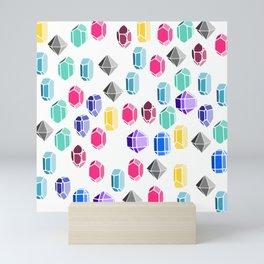 Colorful Gemstones Mini Art Print