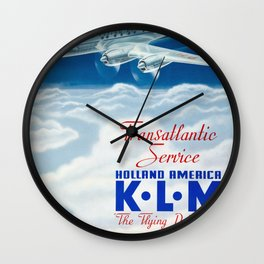 The Flying Dutchman - Vintage KLM Airline Poster Wall Clock