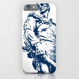 West Virginia Mountaineer Blue Art iPhone Case