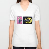 dana scully V-neck T-shirts featuring Aliens, Scully! by Anna Valle