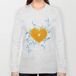Slice of Heart Shaped Orange Long Sleeve T-shirt