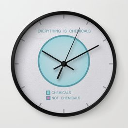 Everything is Chemicals Wall Clock