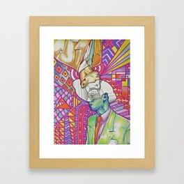 Abstract Man Portrait Framed Art Print