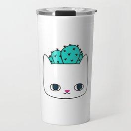 Cactus Kitty Planter Travel Mug