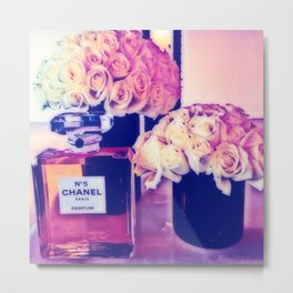 CHANELNo. 5 in Color Metal Print