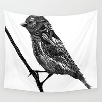 ornate Wall Tapestries featuring Ornate Bird by ZantosDesign