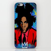 basquiat iPhone & iPod Skins featuring Basquiat by KgTheOctopus