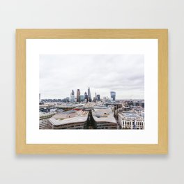 City View of the Financial District of London from St. Paul's Cathedral Framed Art Print