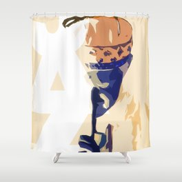 Jazz Poster Shower Curtain