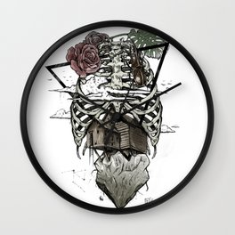 Esqueleton Illustration by Javi Codina Wall Clock
