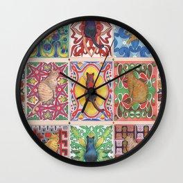Cat Tiles Wall Clock