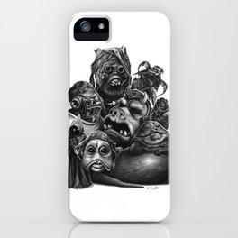 ALIEN CREATURES IN A GALAXY FAR FAR AWAY iPhone Case