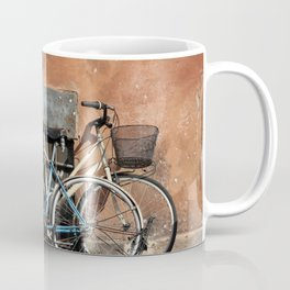 Two Vintage Bicycles Against a Wall, Trastevere, Rome, Italy Coffee Mug