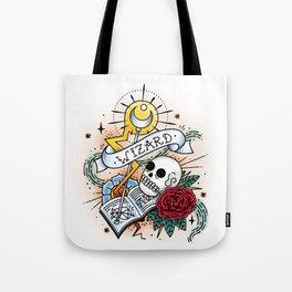 Wizard - Vintage D&D Tattoo Tote Bag
