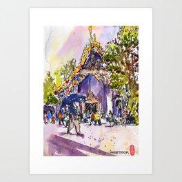 20160402 Wat Pho Art Print
