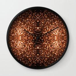 Beautiful Bronze Orange Brown glitters sparkles Wall Clock