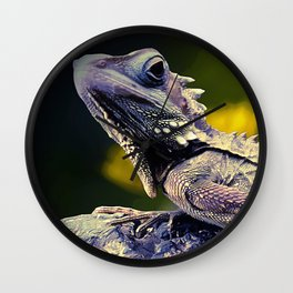 painting dragon lizart Wall Clock