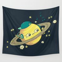 saturn Wall Tapestries featuring DJ Saturn by Lili Batista