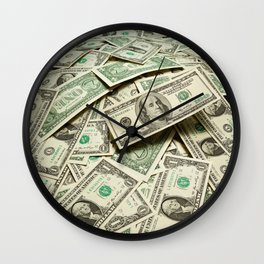 Currency Photographic Art Wall Clock