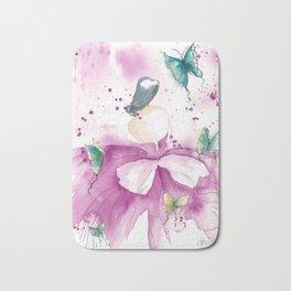 Ballerina with Butterflies Bath Mat