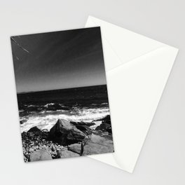 ocean view in black and white Stationery Cards